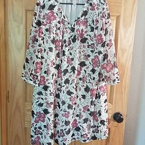 Loft Outlet sz XL swing floral dress